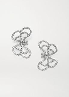 Area Silver-tone Crystal Earrings