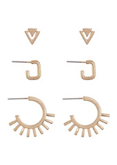 Area Spike Stud Earrings - Pack of 6
