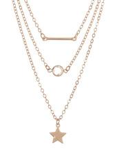 Area Star, Bar Necklace Set - Set of 3