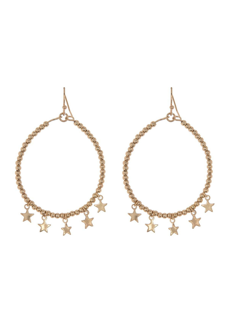 Area Star Circle Drop Earrings