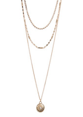 Area Star Disc Layered Necklace Set