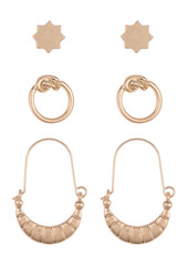 Area Star Knot Earrings Set - Set of 3