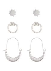 Area Star Knot Earrings Set - Set of 3