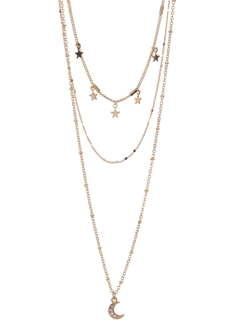 Area Stars & Moon Layered Necklace Set