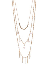 Area Stick Layered Necklace Set