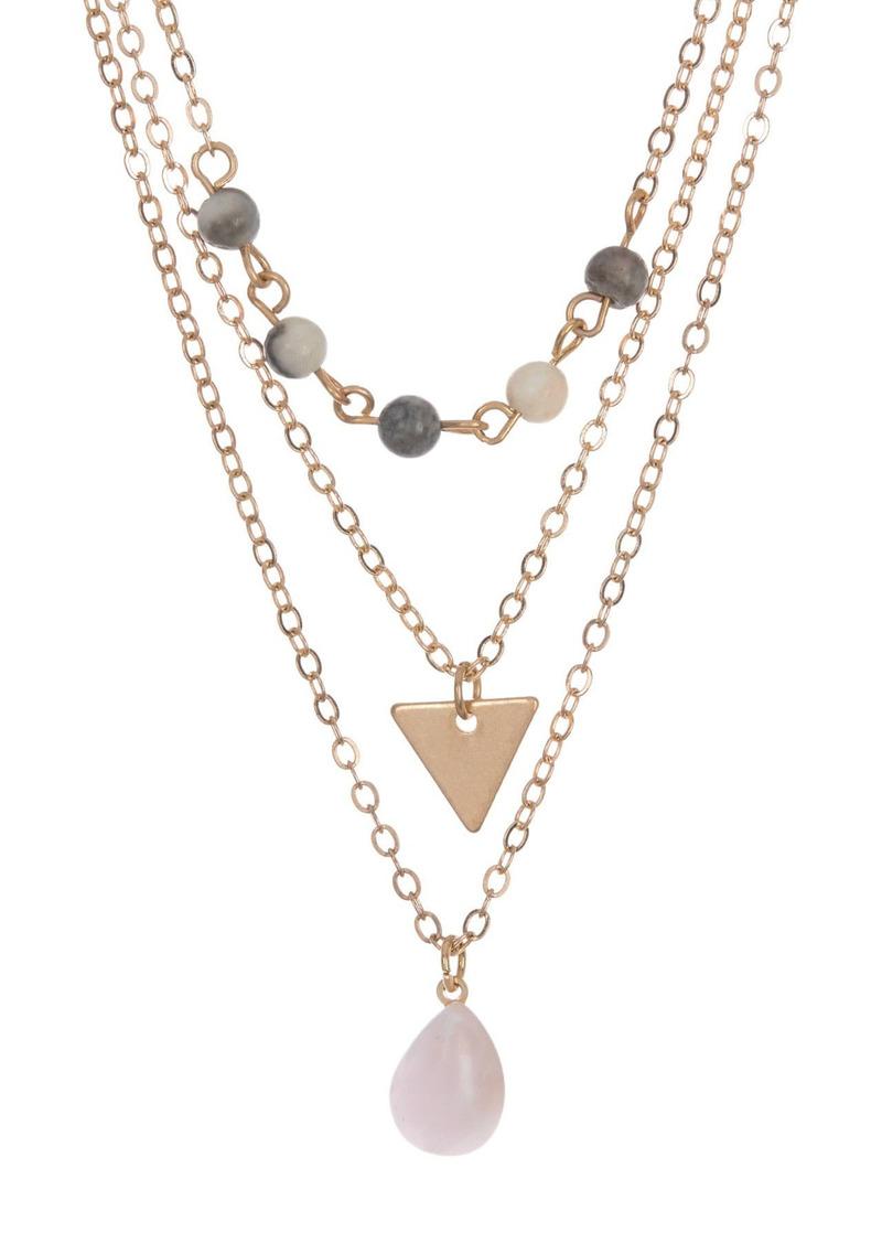 Area Stone Necklace Set - Set of 3