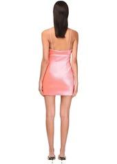 Area Stretch Lamé Mini Dress W/ Crystals
