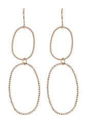 Area Textured Wire Oval Earrings