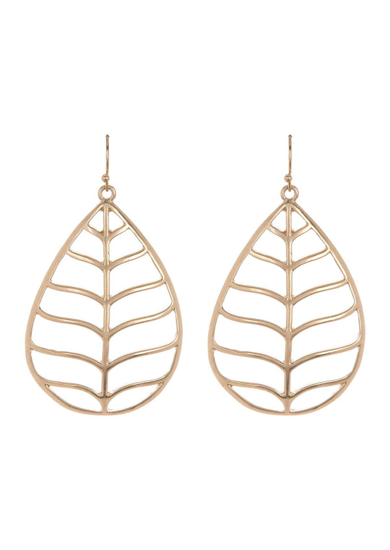 Area Thick Leaf Earring