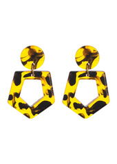 Area Tortoise Resin Geo Drop Earrings