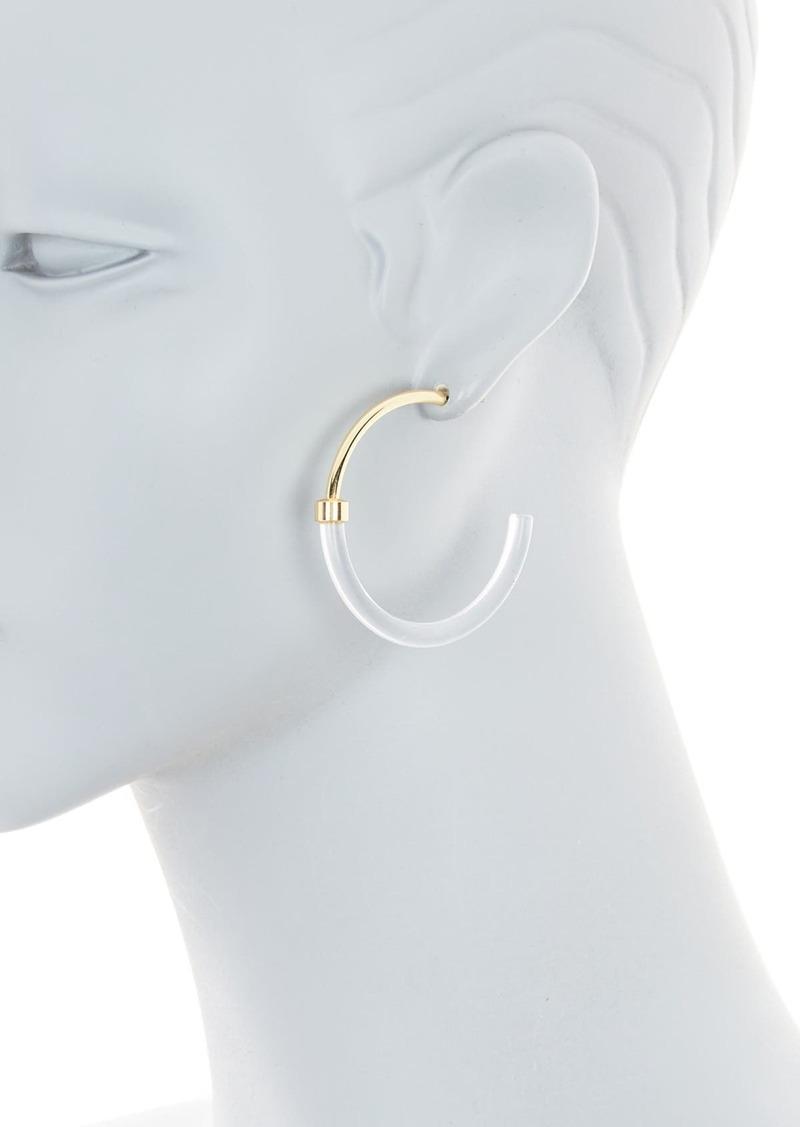 Area Two-Tone Acrylic Hoop Earrings