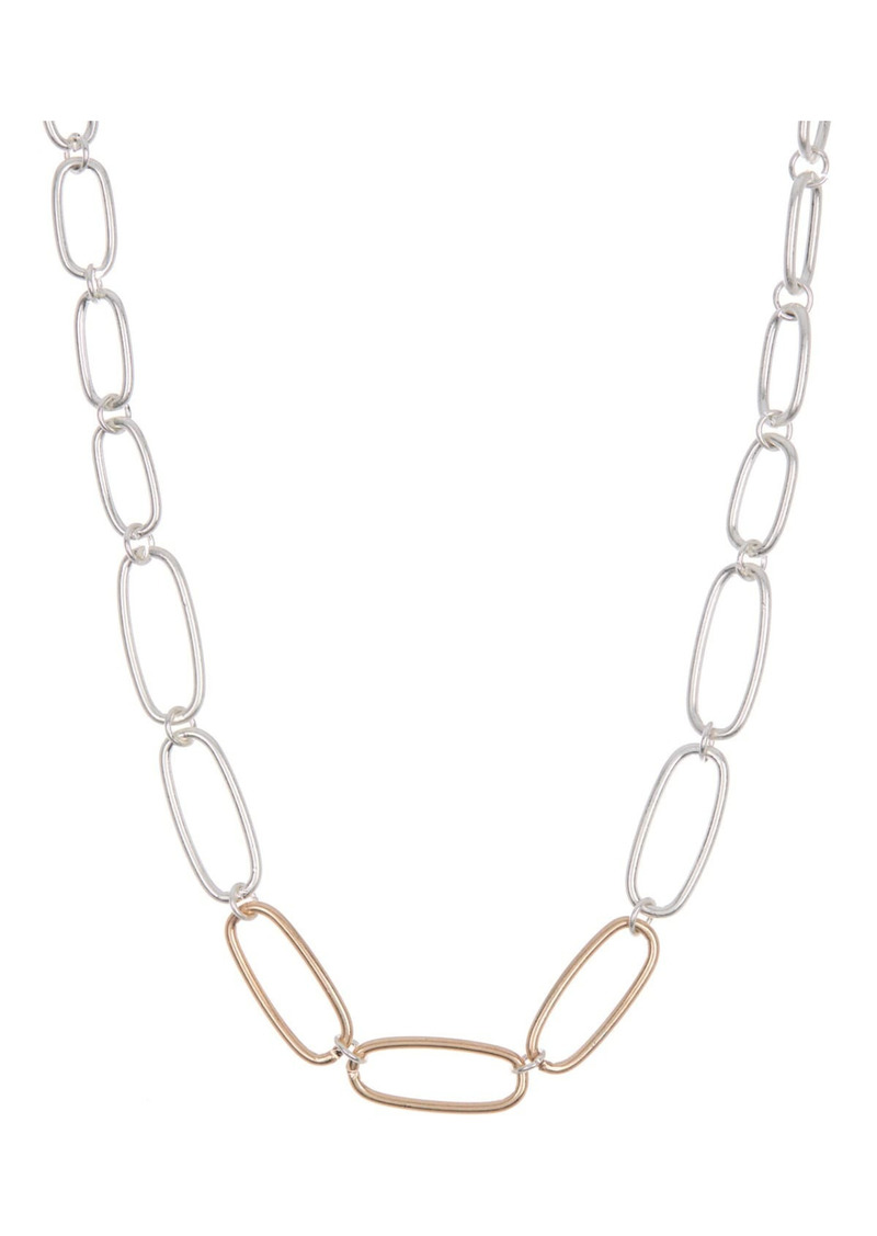 Area Two-Tone Link Necklace