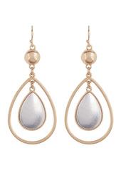 Area Two Tone Oval Earrings