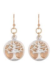 Area Two-Tone Tree Drop Earrings