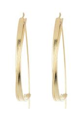 Area Wide Textured Threader Hoop Earrings
