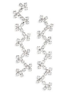 Women's Area Cross Stitch Crystal Drop Earrings