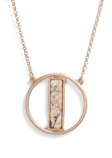 Women's Area Stars Stone Pendant Necklace