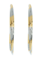 Area Zoom Triple Layer Two-Tone Hoop Earrings
