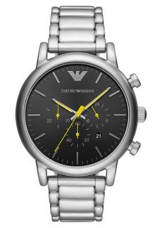 Emporio Armani Men's Chronograph Stainless Steel Bracelet Watch 46mm