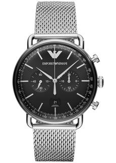 Emporio Armani Men's Chronograph Stainless Steel Mesh Bracelet Watch 43mm