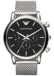 Emporio Armani Men's Chronograph Stainless Steel Mesh Bracelet Watch 46mm AR1808