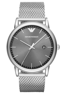 Emporio Armani Men's Luigi Stainless Steel Mesh Bracelet Watch 43mm