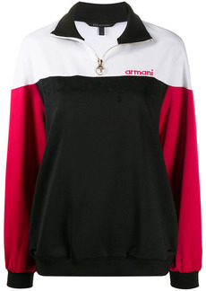 Armani Exchange color-block embroidered track top