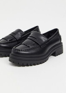 ASOS DESIGN Melon chunky loafers in black