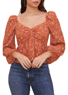 ASTR the Label Crinkle Sweetheart Top