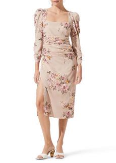 ASTR the Label Floral Print Long Sleeve Dress