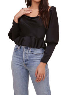 ASTR the Label Mutton Sleeve Top