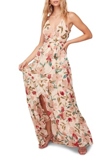 ASTR the Label Sleeveless Floral Print Maxi Dress