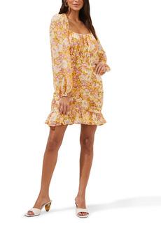 ASTR the Label Smocked Waist Long Sleeve Minidress