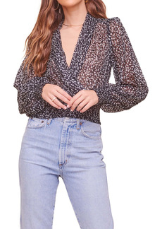 ASTR the Label So Exotic Faux Wrap Top