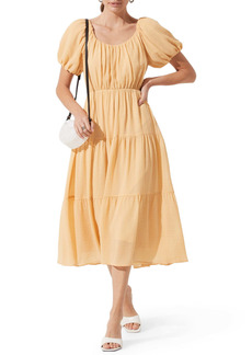 ASTR the Label Tiered Short Sleeve Dress