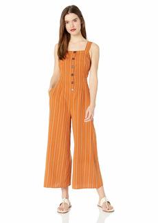 ASTR the label Women's Baseline Sleeveless Open Back Cropped Culotte Jumpsuit  S