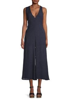 ASTR Endeavor Textured Linen & Cotton-Blend Jumpsuit