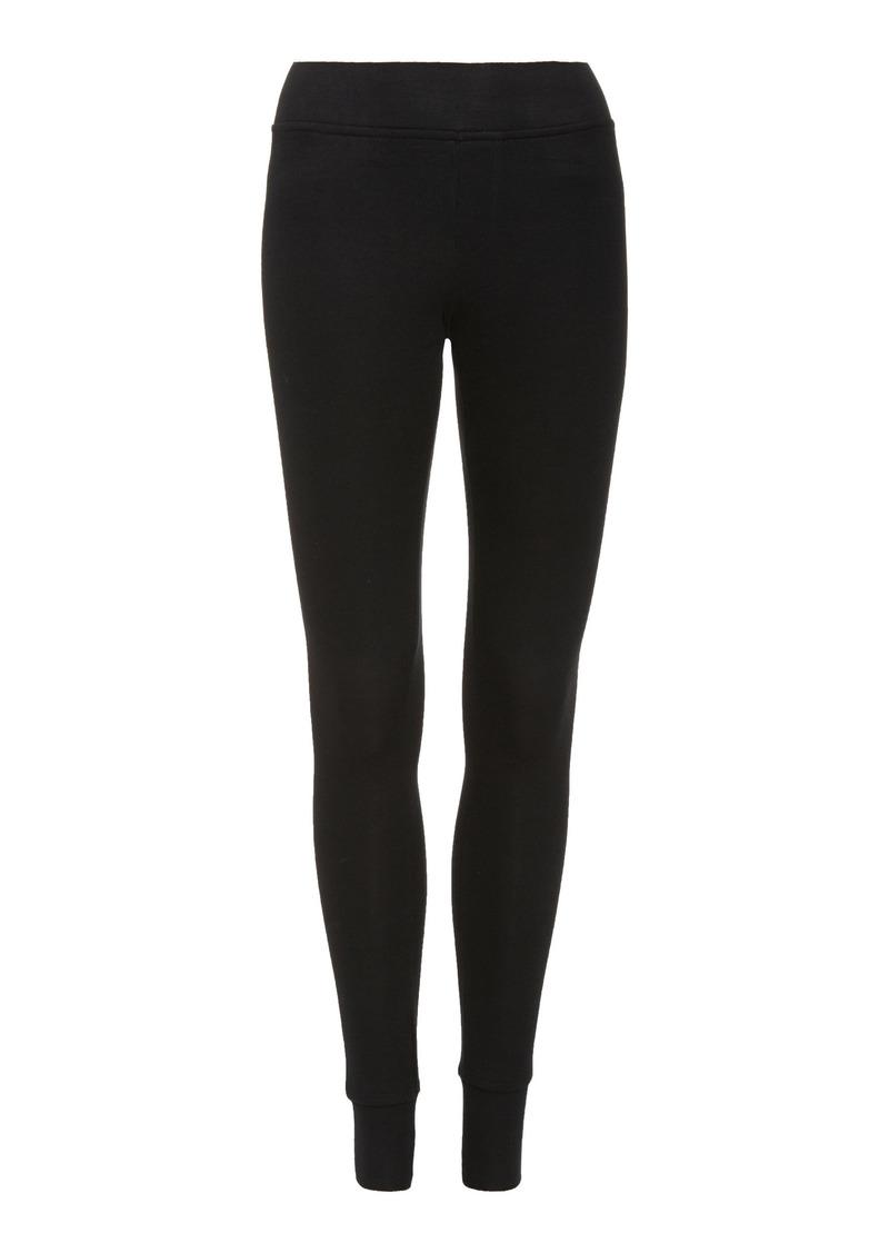 ATM Anthony Thomas Melillo - Women's Ribbed Stretch-Modal Yoga Leggings - Black - Moda Operandi