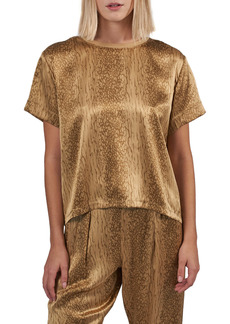 ATM Anthony Thomas Melillo Boxy Silk Charmeuse T-Shirt