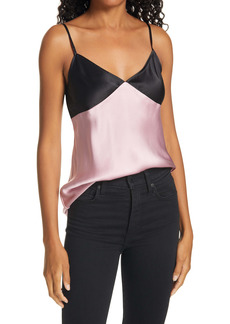 ATM Anthony Thomas Melillo Contrast Detail Silk Satin Camisole
