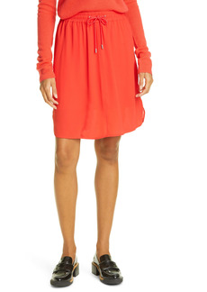 ATM Anthony Thomas Melillo Drawstring Crepe Georgette Skirt