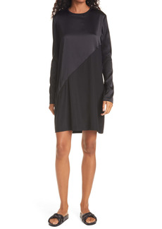 ATM Anthony Thomas Melillo Long Sleeve Stretch Silk Minidress