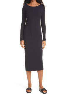 ATM Anthony Thomas Melillo Side Slit Long Sleeve Dress
