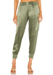 ATM Anthony Thomas Melillo Silk Cargo Pull On Pants