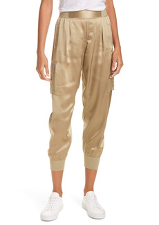 ATM Anthony Thomas Melillo Silk Satin Cargo Pants