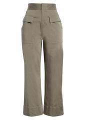 ATM Anthony Thomas Melillo Brushed Twill Crop Wide Leg Pants