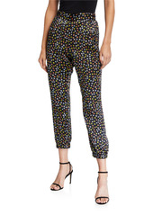 ATM Anthony Thomas Melillo Floral Silk Charmeuse Jogger Pants