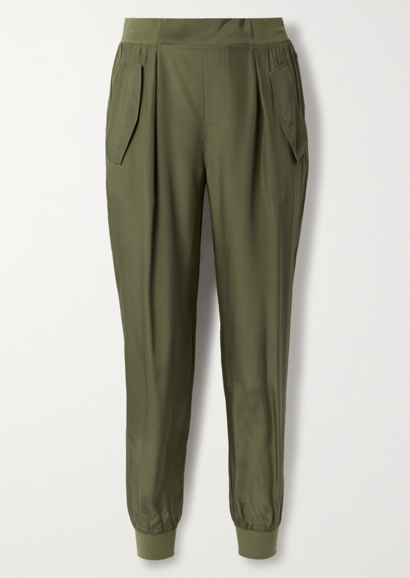 ATM Anthony Thomas Melillo Silk-charmeuse Track Pants