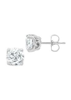 Badgley Mischka 14K White Gold & 2 TCW Lab-Grown Diamond Solitaire Stud Earrings