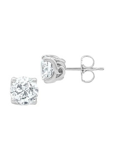 Badgley Mischka 14K White Gold & 4 TCW Lab-Grown Solitaire Stud Earrings